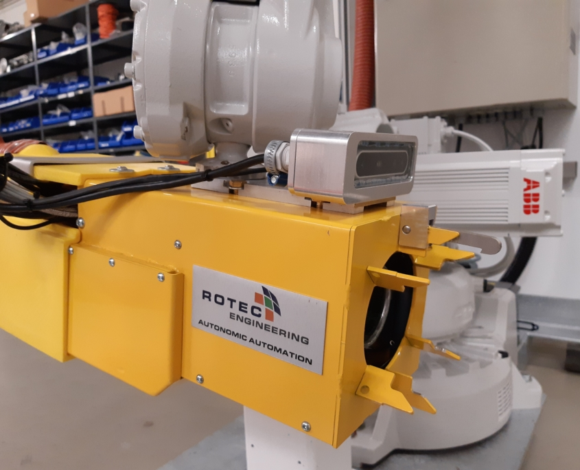 LNG robotic fuelling system with 3d camera