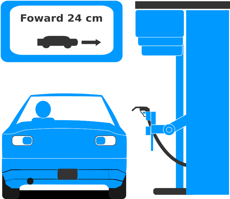 Automated gas station instructions system
